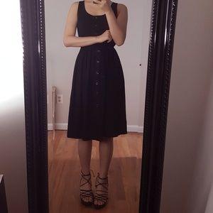 💙SOLD💙Black Sleeveless Midi Dress